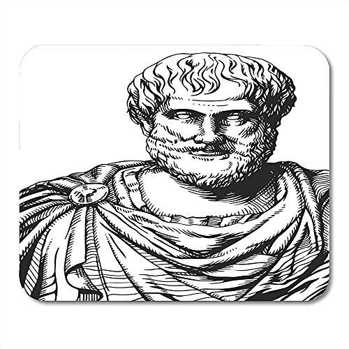 Mauspads Alte Philosophie Aristoteles-Schwarzweiss-Porträt der griechischen Philosoph- und Wissenschaftler-Aesop-Altertums-Mausunterlage