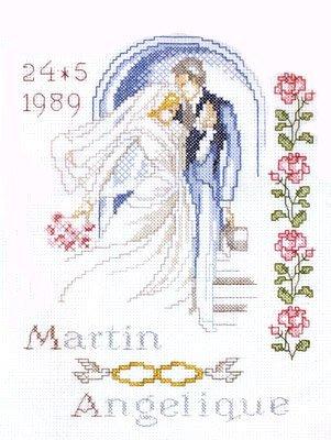 Big Day Wedding Sampler Cross Stitch Kit