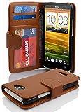 Cadorabo Hülle für HTC One X/Hülle in Cognac braun Handyhülle mit 3 Kartenfächern Case Cover Schutzhülle Etui Tasche Book Klapp Style Cognac-Braun