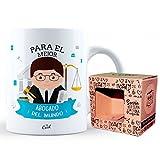Mr Cool Taza en Caja Regalo en Mensajepara El Mejor Abogado ¡del Mundo, Cerámica, Multicolor, 15x10x5 cm