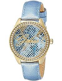 Guess W0612L1 - Reloj con correa de piel para mujer, color azul