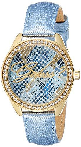 Guess w0612l1 orologio al quarzo da donna, display analogico, cinturino in pelle blu