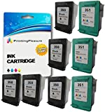 Printing Pleasure 8 XL Druckerpatronen für HP Deskjet D4200 D4245 D4260 D4360 D5360 D5363 D4368, OfficeJet J5700 J5730 J5780 J5783 J5785 J5790 J6400 J6410 J6415 J6450 J6480 J7500, Photosmart C4200 C4205 C4210 C4240 C4250 C4270 C4272 C4275 C4280 C4283 C4285 C4340 C4342 C4343 C4344 C4345 C4348 C4380 C4383 C4390 C4440 C4450 C4472 C4473 C4480 C4485 C4580 C4585 C4599 C5200 C5240 C5250 C5270 C5275 C5280 C5290 C5293 | kompatibel zu HP 350XL (CB336EE) & HP 351XL (CB338EE)