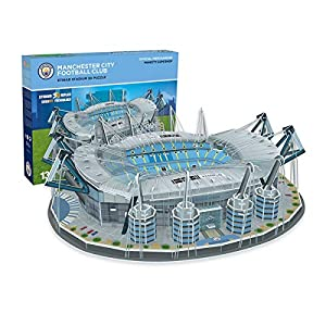 KARACTERMANIA Nanostad, Puzzle 3D Estadio Etihad Original de Manchester City (3885), Multicolor (Kick Off Games 1)