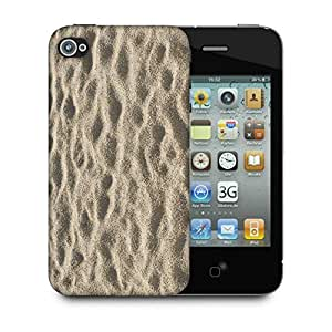 Snoogg Beach Sand Designer Protective Back Case Cover For Apple Iphone 4