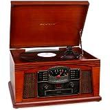 Ricatech RMC200 - Tocadiscos para equipo de audio (4 W, 3.5 mm, reproductor de CD), marrón