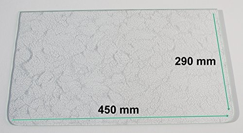Kühlschrank Einlegeboden / Glasplatte / Gemüsefach – Strukturglas 4 mm dick - mit 2 Rundecken – 450 mm x 290 mm - Direkt vom Glasereifachbetrieb!!!
