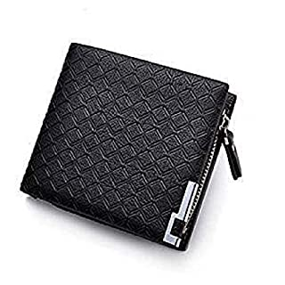 MultiWare Mens Soft Leather Wallet Credit Card Holder Purse with Zipper Metal Clasp