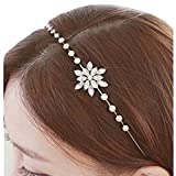 Miya 1 Mega Luxury Hair Band with Crystals and a Beautiful Snowflakes, Vintage Design, Wedding, Cocktail Party,/Confirmation
