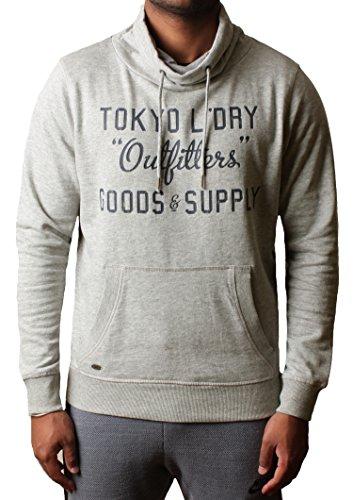 Uomini Tokyo lavanderia con cappuccio Felpa con cappuccio Maglione Pullover Fleece Woodstock Cove light grey marl