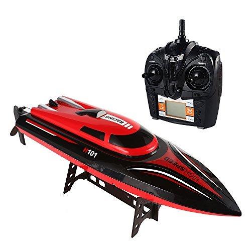 SainSmart Jr. Speedboot RC ferngesteuertes Boot High-Speed Rennboot, 4CH 2.4 Ghz Großfunkgesteuertes Boot Racing Boot für Anfänger und Kinder