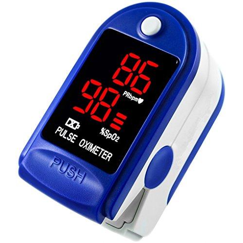 C101J0 Digitaler SpO2 Fingertip Pulsoximeter Sauerstoff Finger Monitor Blutsauerstoffsensor Sättigungspegel Meter Regard