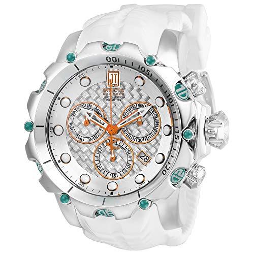 Invicta Jason Taylor Herren-Armbanduhr 55mm Weiß Schweizer Quarz Analog 27104
