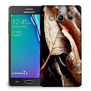 Snoogg Dry Leaves Designer Protective Phone Back Case Cover For Samsung Galaxy Tizen T3