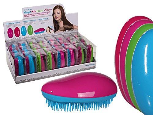 Haarbürste, Striegelbürste, Entwirrbürste Magic Hair Brush NEON, Magische Haarbürste Farbkombination ()