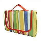 TUKA 200 x 150 cm Coperta Telo Pic-nic Tappeto, impermeabile, pieghevole grande coperta da picnic, Coperta Campeggio Giardino, banda, TKD4003-stripe