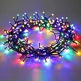 DecoKing 45121 200er LED-Lichterkette Timer bunt mehrfarbig statisch strombetrieben Innen und Außen