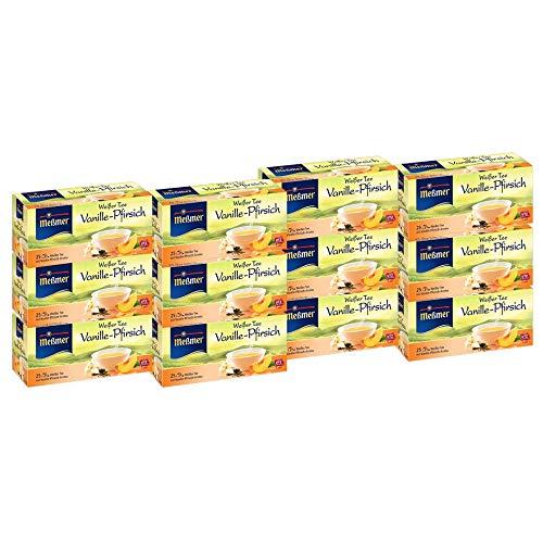 Meßmer Weißer Tee Vanille-Pfirsich 25 Teebeutel – 12 Packungen