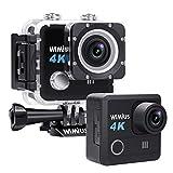 Sport-Action-Kamera wasserdicht DV 4K 20 MP HD WiFi Unterwasser-Camcorder EIS Weitwinkelobjektiv mit 2 wiederaufladbaren Batterien und Montagezubehör Kit