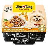 Gimdog Futter/Little Darling Fruity Menu Ragout mit Lamm, Aprikose und Gemüse/Für Hunde bis 10 kg/Natürliches Hundefutter ohne künstliche Aromen & Farbstoffe/Hundenassfutter 800g (8 x 100g)