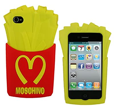 Pommes de terre frites Coque de protection Silicone Case pour Apple iPhone 4 4S from Mobile Bar