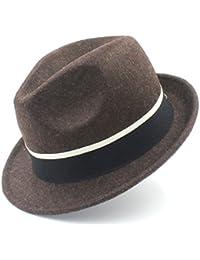 GBY Cappello da Donna in Feltro Trilby Cappello Fedora per Elegante Signora  Gentleman Trilby Felt Homburg b21930a12bb3