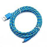 Ouneed® 2M Hanf-Seil-Micro-USB-Sync new 2017 Daten Kabel Ladekabel für Handy Kabel Schnur für Handy (blau)