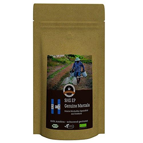 Kaffee Globetrotter - Honduras Genuine Marcala - Bio - 500 g Grob Gemahlen - für Stempel-kanne...