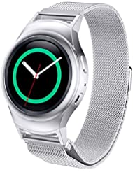 Malloom Pour Samsung Galaxy S2 Engrenage R720 Milanese Boucle Magnétique Bracelet en Acier Inoxydable + Connecteur