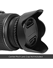SPE Reversible Flower Lens Hood for Canon Rebel, Compatible with all 58mm Lenses.