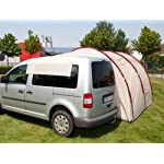 Skandika Camper Tramp Free-Standing Minivan Awning Tent with 2-Berth Sleeping Cabin and 210 cm Peak Height, Sand/Red, 2 Persons 18