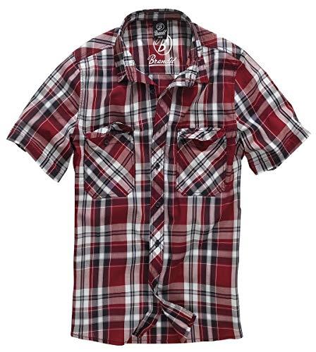 Brandit Roadstar Hemd rot/schwarz/weiß 3XL