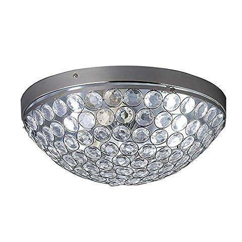 Modern Fashion Ellipse Crytal 3 Lights Ceiling Flush Mount,Chrome