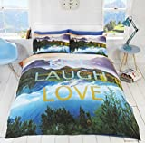 Homespace Direct Cool Fotografien Doppel Bettbezug Set und Kissenbezug Bettwäsche Leinen