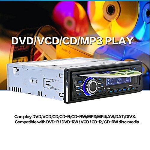KKmoon Lecteur Universel Voiture CD DVD MP3 Player Radio Stéréo avec Tableau de Bord FM Aux Entrée Port SD/USB