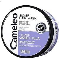 Máscara de plata para cabello de Delia, rubio blanqueado, pelo gris, anti efecto