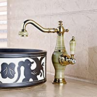 TougMoo Top Grade Deck Mounted Color Changing Led Basin Faucet Sink Mixer Tap Chrome Finished Spray Waterfall Bathroom Temperature Sense,White