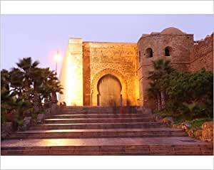 Imprimé photographique de portail et des Parois du Oudaya Kasbah, Rabat, Afrique du Nord, Maroc Afrique