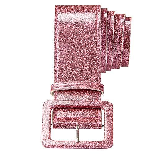 Widmann - Glittergürtel - Rosa Glitter Kostüm Strumpfhosen
