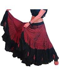 25 yarda yardas Tribal Belly Dancing Gypsy Jupe de danse en Coton-L36 pouces ATS-TIE DYE
