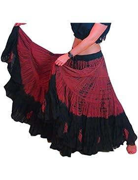 25 Yard Yards Tribal Belly Gypsy cotone che balla la danza Gonna ATS L36inch - Stinto PROGETTAZIONE