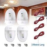LED-Deckenleuchte Doppel 280lm 12V 6000K, 3528 SMD LEDs, Innen Ersatz Licht für Wohnmobil/Camper / Anhänger (mit Verlängerungskabel) 3Pcs