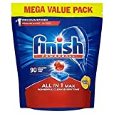 Finish All in 1 Max Dishwasher Tablets Lemon Scent, 90 Tablets