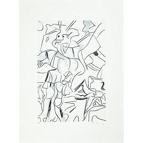 Willem de Kooning–Mano Firmado y numerados Vintage Litografía–c1970s (raro 'EA'. Jackson Pollock, Mark Rothko
