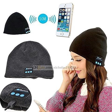 Fone-Case Huawei P8lite ALE-L04 (Black) Wireless Bluetooth Beanie-Hut mit Stereo-Kopfhörer-Headset-Lautsprecher und Hands-Free Built-In