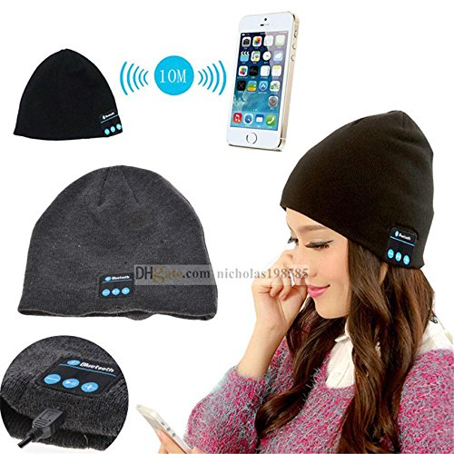 Fone-Case HTC U Ultra (Black) Wireless Bluetooth Beanie-Hut mit Stereo-Kopfhörer-Headset-Lautsprecher und Hands-Free Built-In (Lade-pad Htc)
