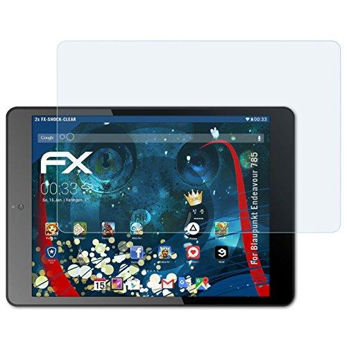 atFolix Schutzfolie kompatibel mit Blaupunkt Endeavour 785 Panzerfolie, ultraklare und stoßdämpfende FX Folie (2X)