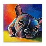 CafePress–Französische Bulldogge 5–Tile Untersetzer, Drink Untersetzer, Untersetzer, Klein