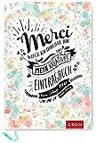 Merci Wofür ich dankbar bin: Mein kreatives Eintragbuch -
