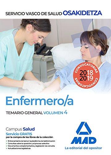 Enfermera/o de Osakidetza-Servicio Vasco de Salud. Temario General Volumen 4